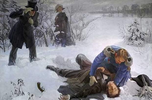 Горбов А. Дуэль А. С. Пушкина с Ж. Дантесом. 1936 г. <br>