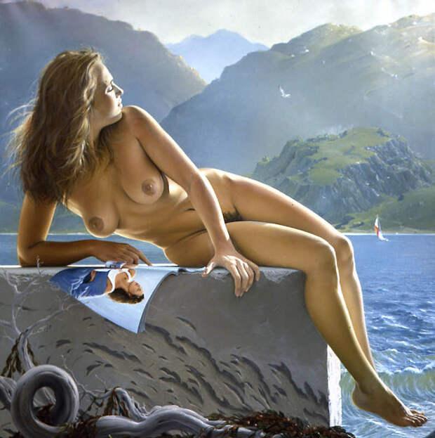 Обнаженная натура в изобразительном искусстве разных стран. Часть 179.