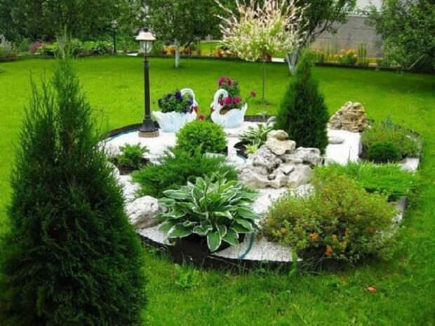 Декоративный камень в саду: 30+ красивейших идей