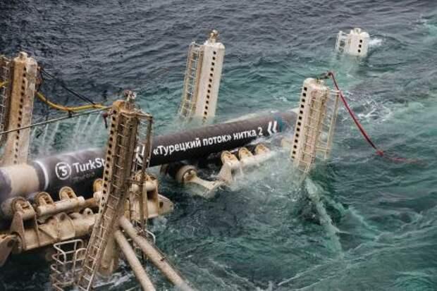 """Газпром"" за год нарастил загрузку газопровода ""Турецкий поток"" в 2,2 раза"