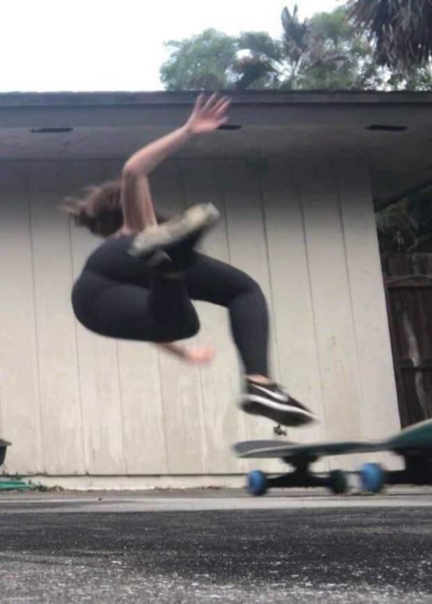 Падение со скейта