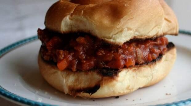 Что приготовить из фарша: Бургер «Неряха Джо»