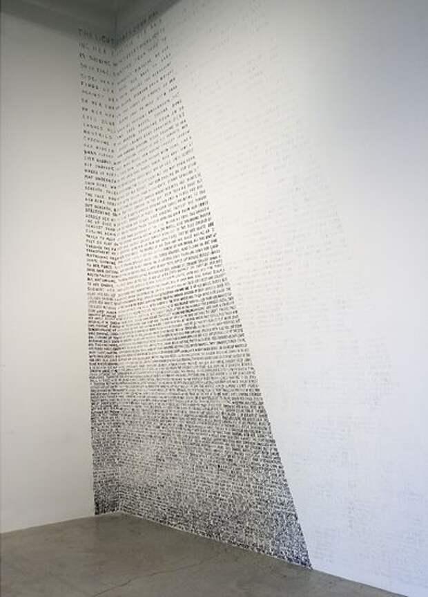 интерьер со страницами книг