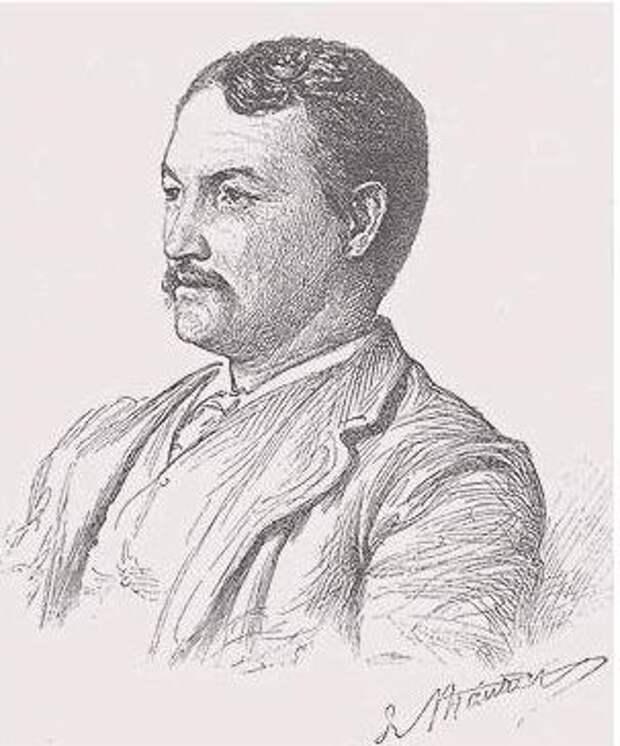 Фрэнсис Миллет на портрете Джорджа Дюморье, 1889 год.