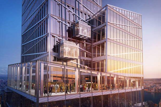 Нью-Йорк удивит туристов стеклянными лифтами на высоте 300 метров