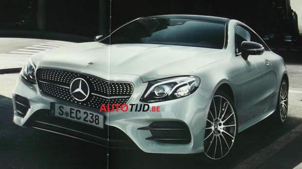 Двухдверный Mercedes-Benz E-класса «утек» в интернет