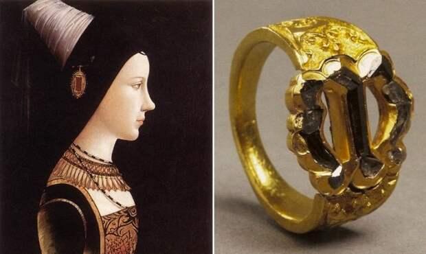 Помолвочное кольцо Марии Бургундской. / Фото: nastroy.net