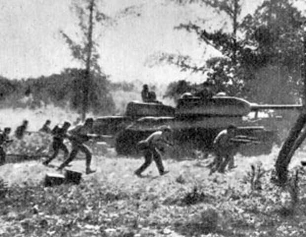 Кубинские войска ведут бой в Заливе Свиней
