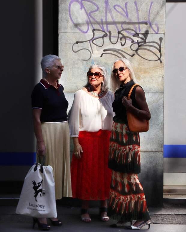 Пожилые итальянские модницы