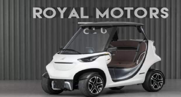 В Москве продают гольф-кар с дизайном от Mercedes по цене новенького Porsche Cayenne