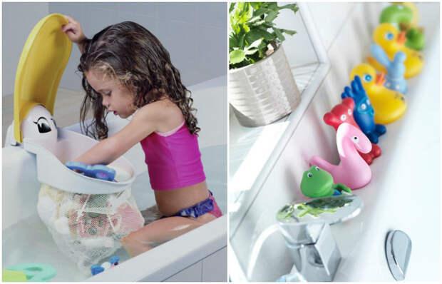 Купание с игрушками из гигиенической процедуры превращается в удовольствие для ребенка.