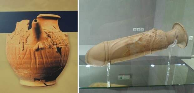 Предметы из древнегреческого борделя в Салониках.   Фото: atlasobscura.com.