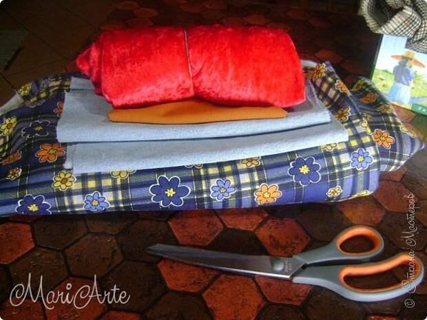 ИГОЛКА С НИТОЧКОЙ. Шьем текстильного петушка