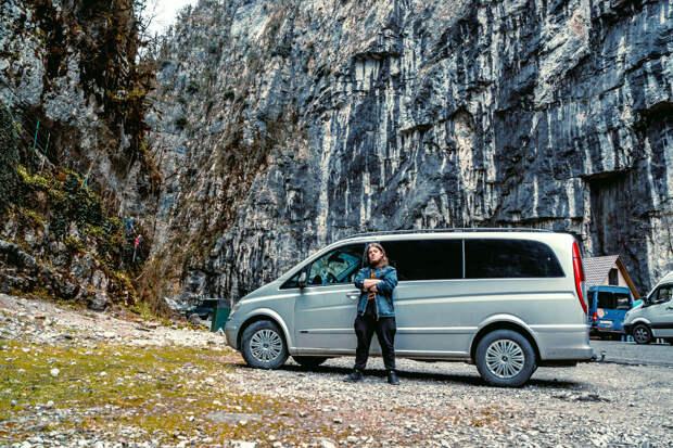 Наш автомобиль в Юпшарском каньоне
