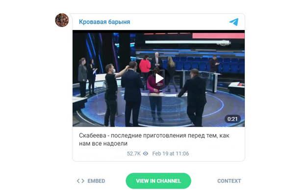 Скабеева жестко прокомментировала слив видео из закулисья своей программы