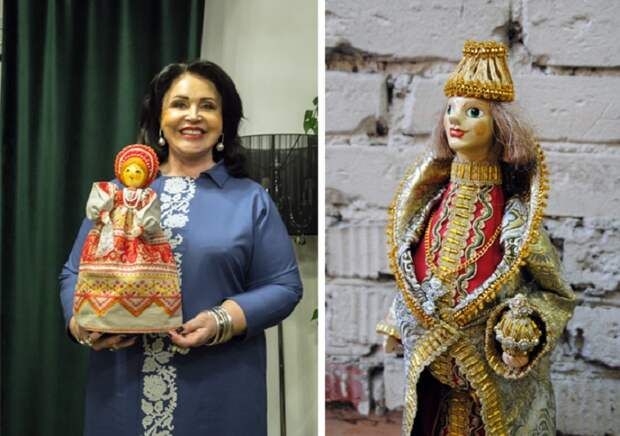 Надежда Бабкина и ее куклы.