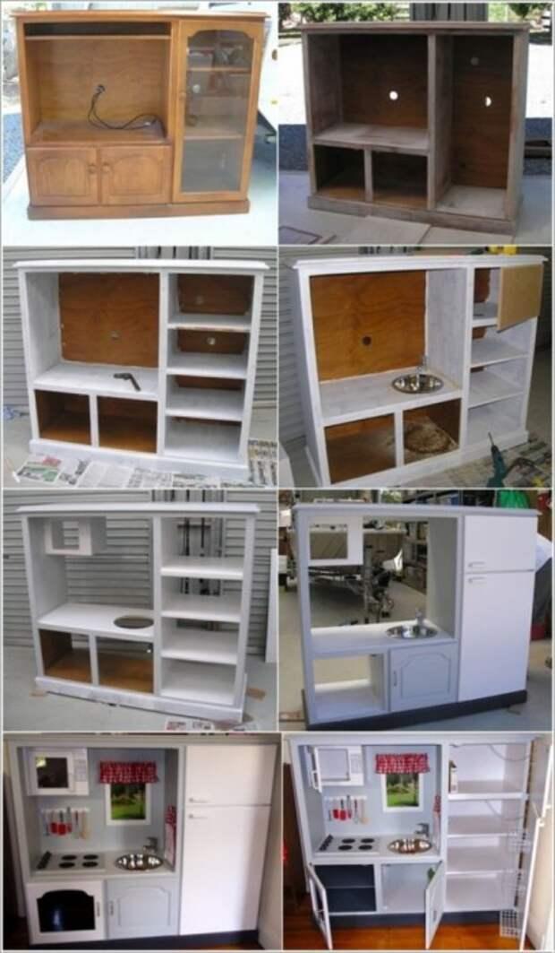 Процесс обновления кухонного гарнитура.   Фото: takprosto.cc.