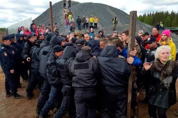 Далекая станция Шиес становится катализатором протестных настроений на Русском Севере