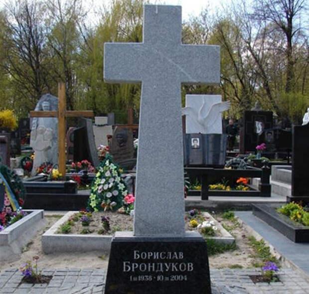 Могила актера на Байковом кладбище в Киеве
