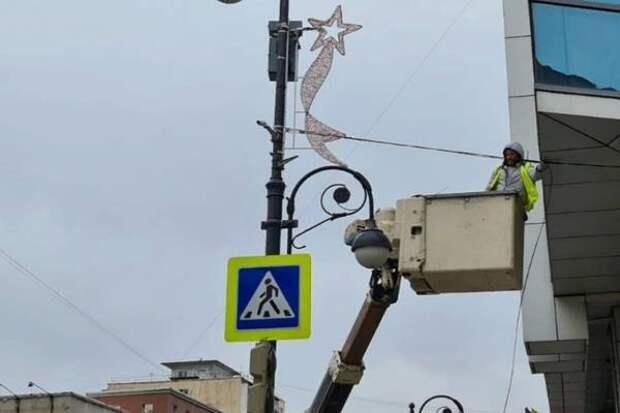 Праздничная иллюминация украсит Владивосток ко Дню Победы