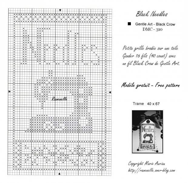 Переносная игольница-открытка (схема)