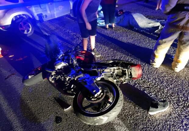 Лихач на мотоцикле разбился на южном берегу Крыма