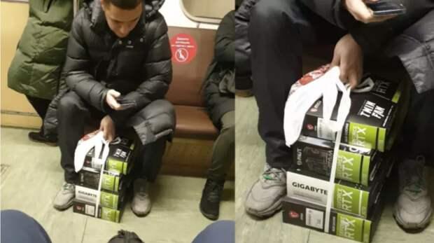 Почему не грабят? Храбрец едет в метро, поставив на пол 500 000 рублей