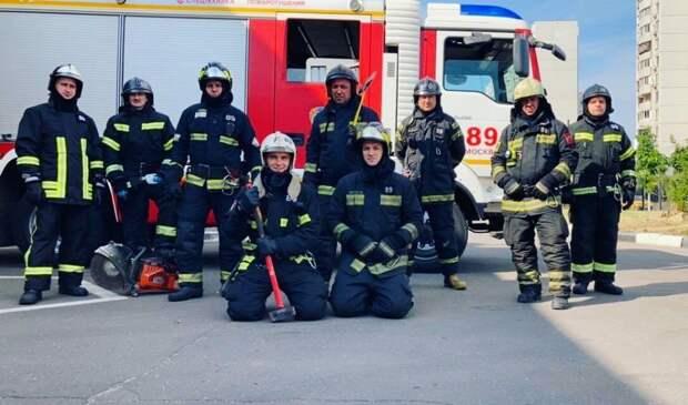 Огнеборцы из ЮВАО оперативно потушили пожар на Ставропольской