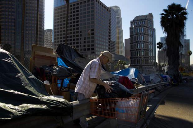 В США растет количество бездомных людей