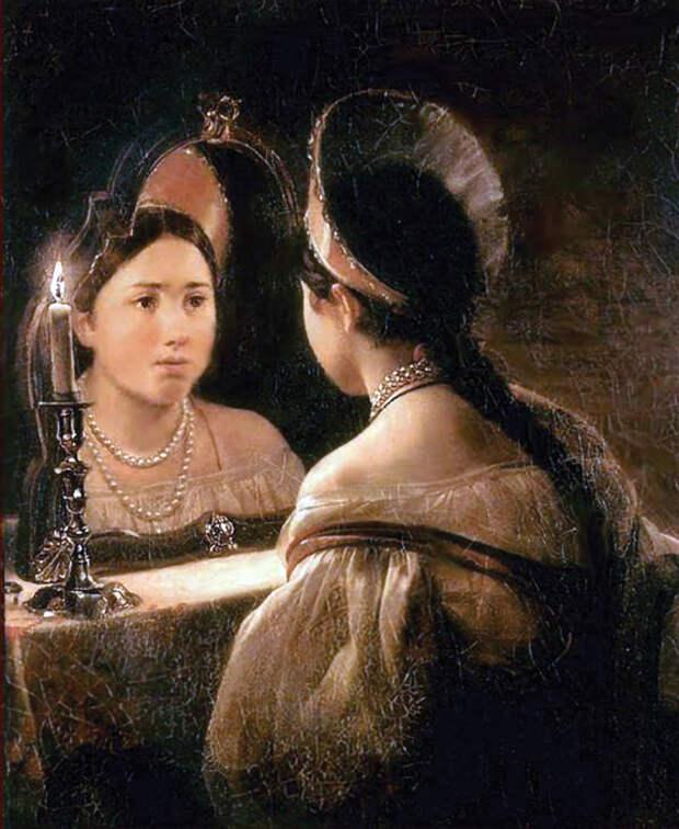 Художник Карл Брюллов, «Гадающая Светлана», 1836 год.