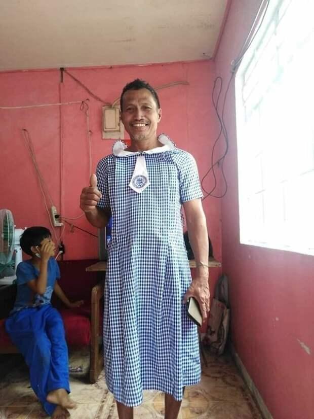Черт-те что исбоку бантик: филиппинцы, бежавшие отвулкана, делятся фото пожертвованной одежды
