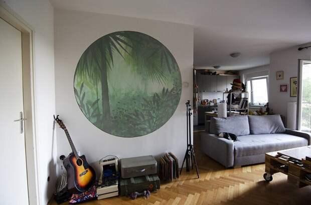 Домашний стрит-арт: художники по всему миру рисуют на стенах своих квартир идомов