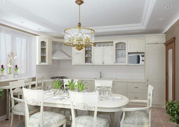 Дизайн кухни в частном доме: фото, планировки и идеи оформления (62 фото)