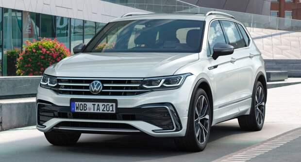Автобренд Volkswagen представил обновленный кроссовер Tiguan Allspace 2022 года