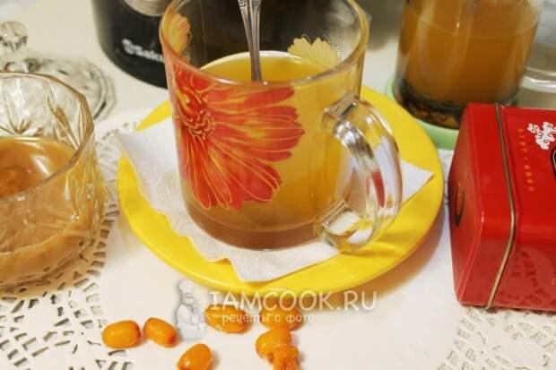 Готовый облепиховый чай