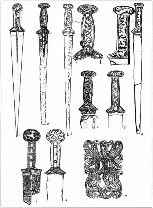 Скифские мечи VI-V века типа Четомлык и их онаментация