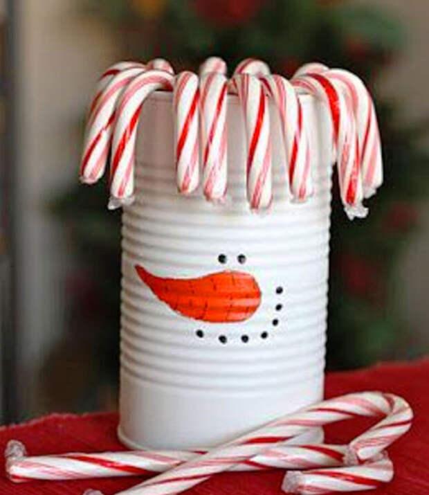 снеговик с прической