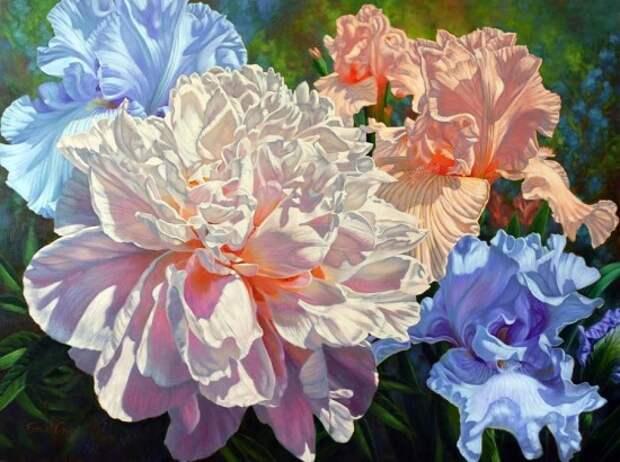 Художник Fiona Craig. Волшебные цветы планеты Земля