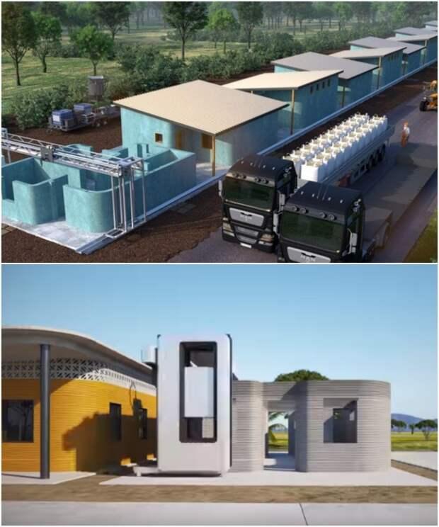 Два года специалисты разных компаний разрабатывали проект строительства новой деревни в штате Табаско (визуализация концепта).   Фото: 3d-grenzenlos.de/ © New Story.