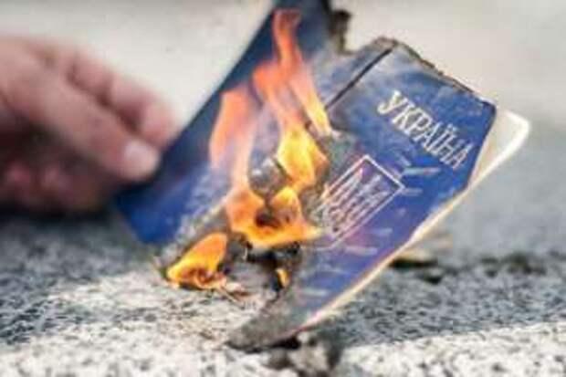 «Украина, иди в жопу»: украинка и её дети выбросили паспорта