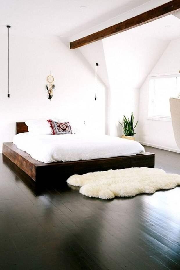 Хороший вариант обустроить спальню и создать в тем теплую и уютную атмосферу.