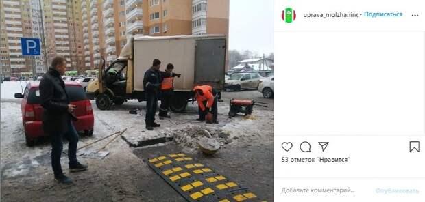 «Лежачие полицейские» притормозят гонщиков на Синявинской
