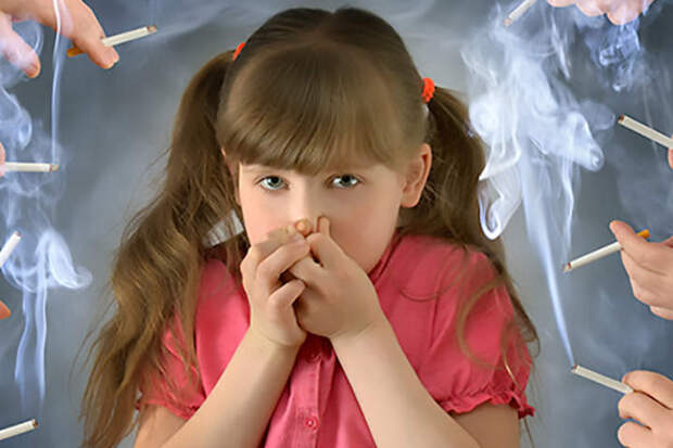 От табачного дыма детский организм быстрее стареет
