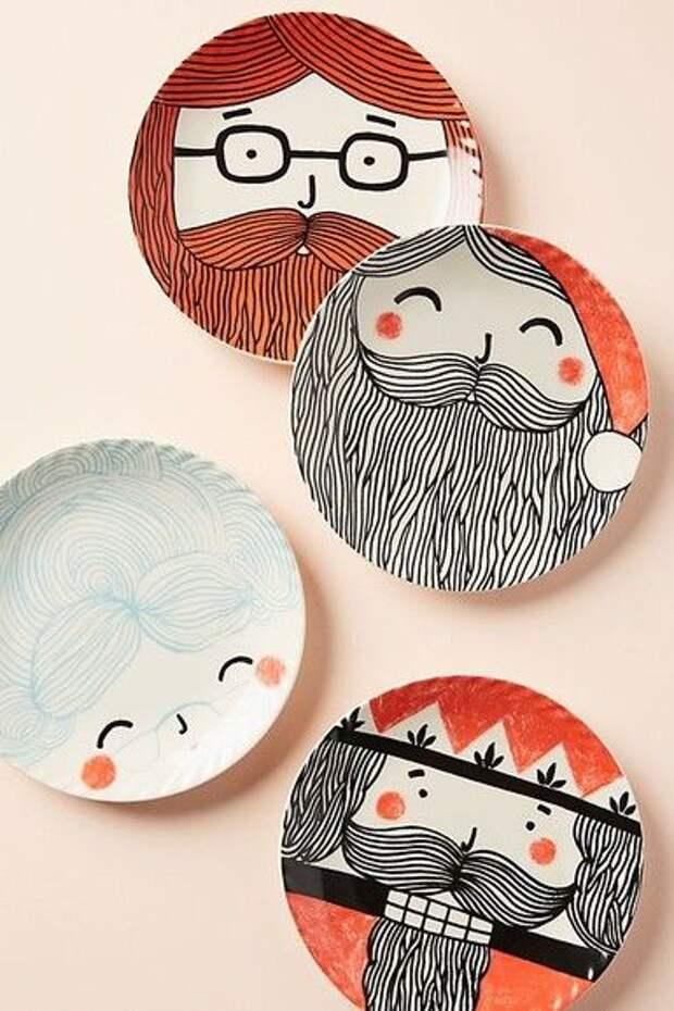 Бородатые тарелки