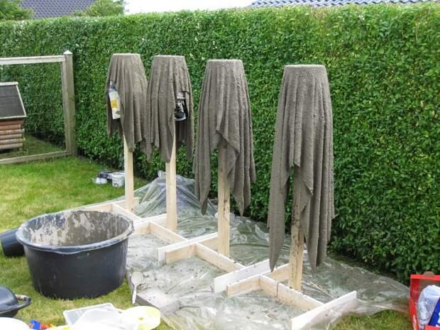 Декоративные кашпо из тряпки и цементного раствора: мастер-класс