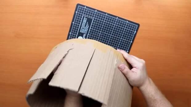 Красивая корзина из крафтовой бумаги и картона