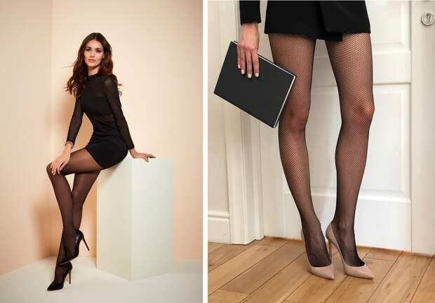 С чем носить черные колготки, чтобы выглядеть стильно?