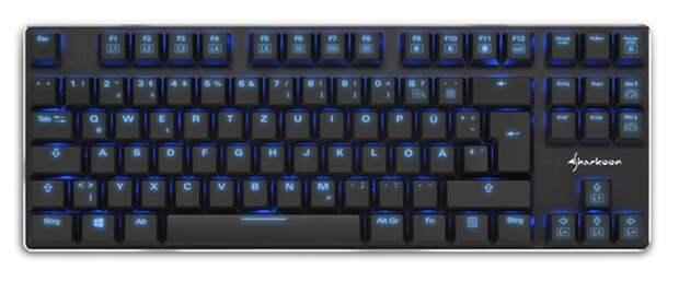 Sharkoon PureWriter TKL: компактная клавиатура механического типа