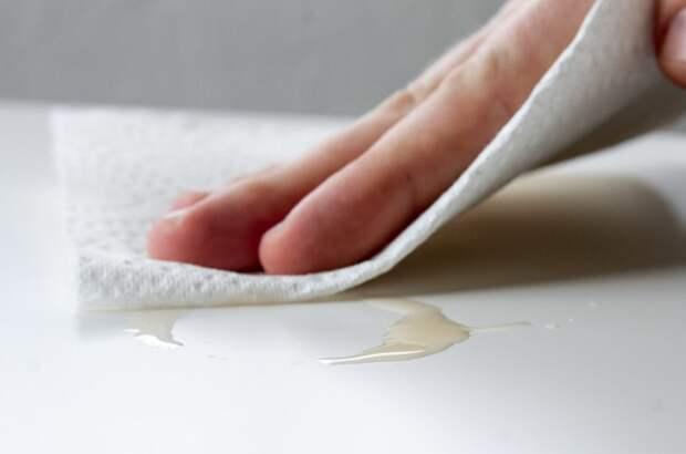 Вытирайте все загрязнения сразу же, чтобы перед приходом гостей было меньше уборки/ Фото: fb.ru