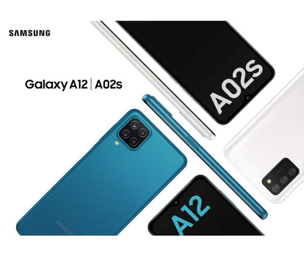 Samsung представила Galaxy A12 и Galaxy A02s с мощным аккумулятором и дисплеем Infinity-V